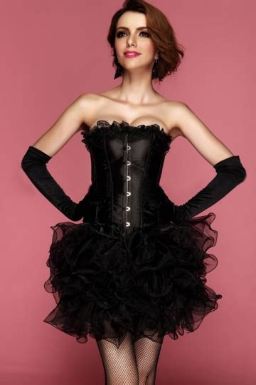 black comfortable lace up plain corset