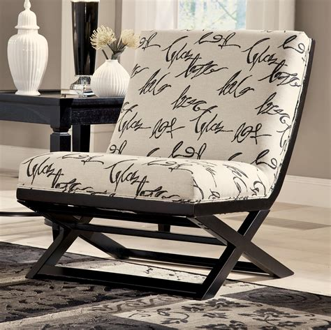 script accent chair armless showood accent chair with abstract script fabric