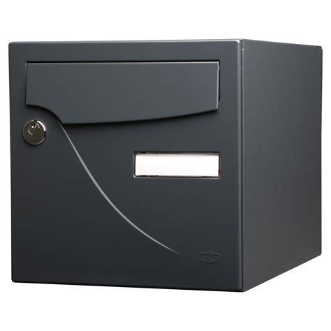bo 238 te aux lettres normalis 233 e la poste 2 portes renz essentiel acier gris leroy merlin