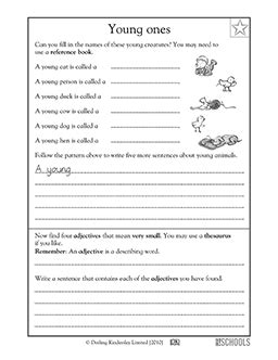 3rd grade reading writing worksheets baby animals language arts worksheets language arts