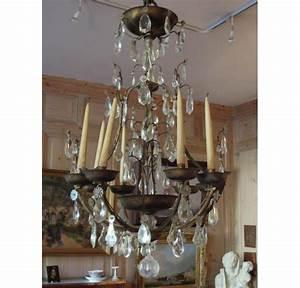 Lustre Fer Forgé : lustre en fer forg et dor de la maison delisle ~ Teatrodelosmanantiales.com Idées de Décoration