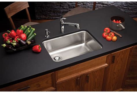 edge guard for undermount sinks faucet com eluh2317 in stainless steel center drain by elkay