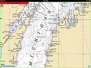 Lake Michigan Nautical Map Michigan Map