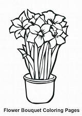 Coloring Bouquet Flower Pages Growing Flowers Colouring Clipart Frederick Kerra sketch template