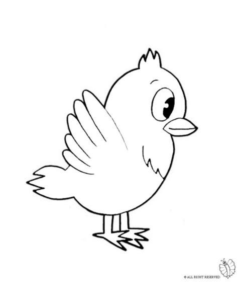 disegni da colorare uccelli disegno di uccello da colorare per bambini gratis