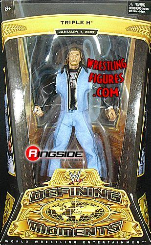 triple  wwe defining moments  ringside collectibles