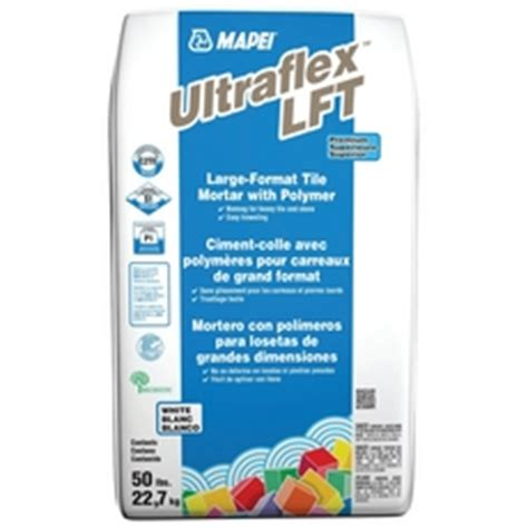 mapei ultraflex lft large format tile white mortar 50lb