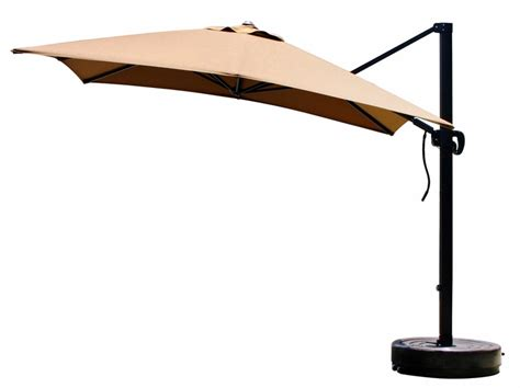 california umbrella 10 foot square canopy cantilevered