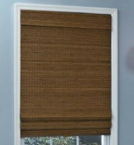 New With Defects Natural Woven Bamboo Cordless Roman Shade