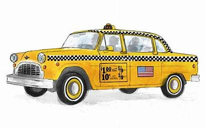 Taxi York Drawing Nyc Sketch Drawings Painting