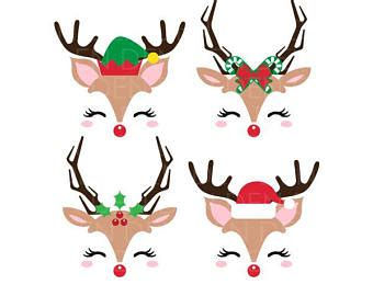 animated clipart reindeer antlers svg