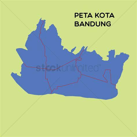 map  kota bandung vector image  stockunlimited