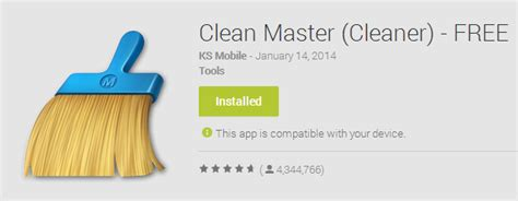 clean master for android clean master cleaner most downloaded android cleaner