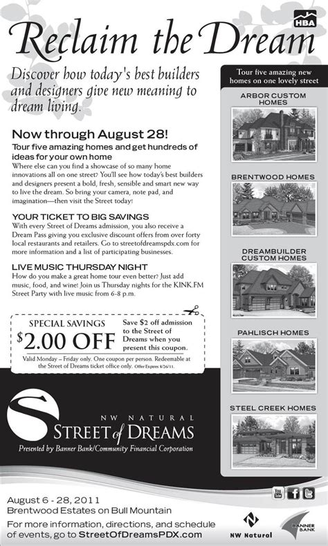 street of dreams coupon code
