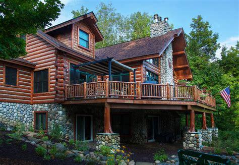 chalet houses dickinson homes hybrid log chalet style home mancelona