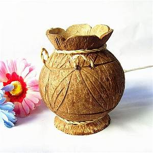 Crafts, Vase and Coconut on Pinterest