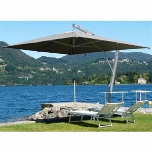Parasol Rectangulaire Pas Cher : parasol rectangulaire d port coloris taupe h 340cm x d ~ Dailycaller-alerts.com Idées de Décoration
