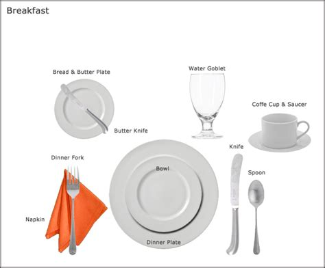 table setting guides   party rental store  san jose ca equipment guides   party