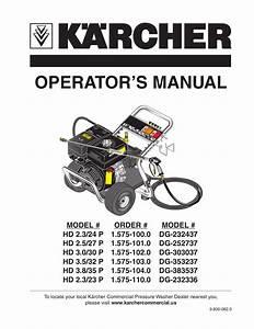 Download Free Pdf For Karcher G 2600 Or Pressure Washers