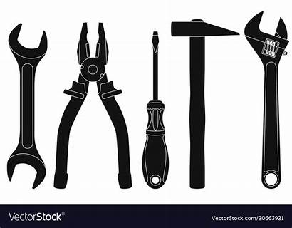 Tools Vector Industrial Spanner Pliers Kit Vectors