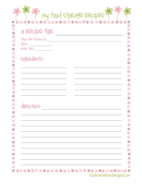 Recipe Card Template For Word Printable Recipe Pages Coloring Pages For Adults Coloring