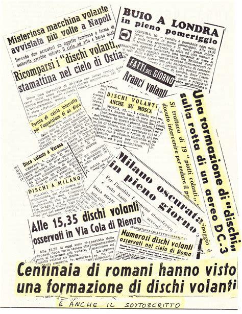 Italiani Volanti by I Dischi Volanti Sulla Sta Italiana Ufo It