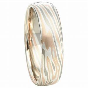 Yugen Unique Mokume Gane Wedding Band
