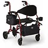 lumex hybrid rollator transport chair titanium health personal care