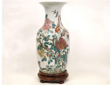 chinese porcelain vase decorated   bird