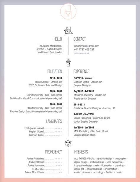 resume for graphic designers image result for graphic design student resume minimalist