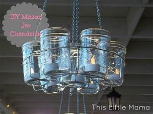 Project diy mason jar chandelier this little mama