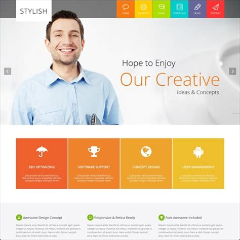 stylish page 70 best business html website templates streetsmash