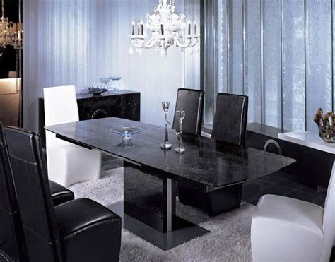 contemporary dining table set vg black modern dining