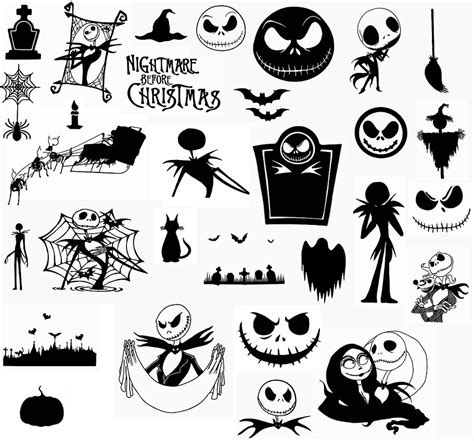 Nightmare Before Christmas Svg Files Free – 328+ DXF Include