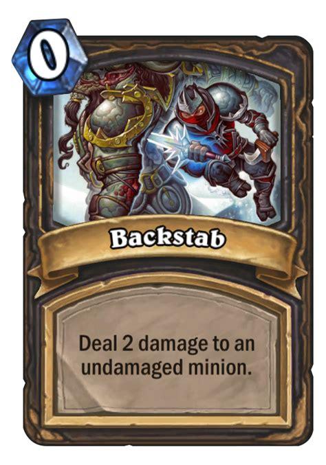 backstab card basic hearthstone rogue mana spell cards decks cost text hearthstonetopdecks