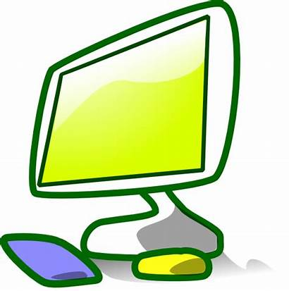 Computer Clip Clipart Animated Station Colorful Clker