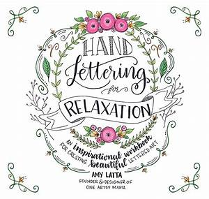 hand lettering for relaxation book amy latta creations With lettering books alphabets