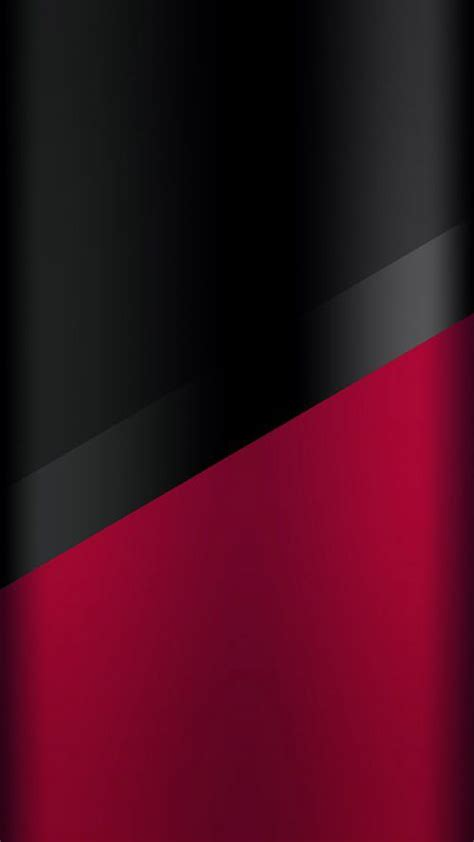 Dark S7 Edge Wallpaper 03 – Black and Red