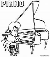 Piano Coloring Pages Keyboard Player Popular sketch template