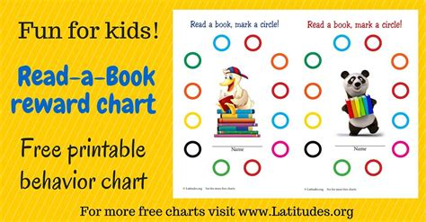 Free Reading Incentive Chart (read A Book)  Acn Latitudes