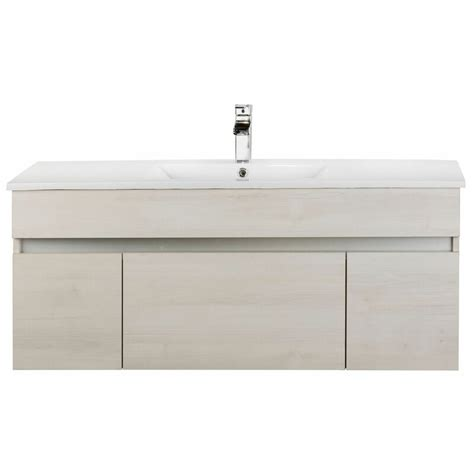 cutler kitchen bath ivory floating  single bathroom