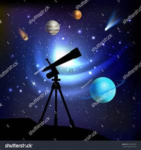 Space Background Telescope Planets Comets Stars Stock ...