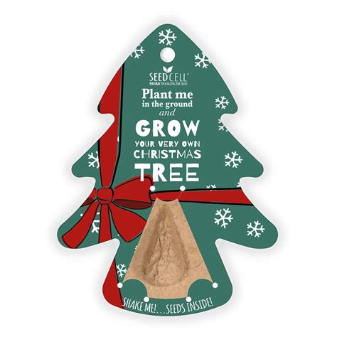 eco seed cell grow your own christmas tree by ashortwalk