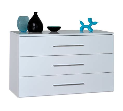 commode chambre blanche commode 3 tiroirs blanche blanc brillant