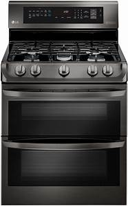 Lg Black Stainless Double Gas Range