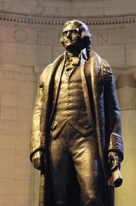 jefferson thomas statue memorial washington bronze why koran monument property liberty president read rudolph evans did britannica rights mem history