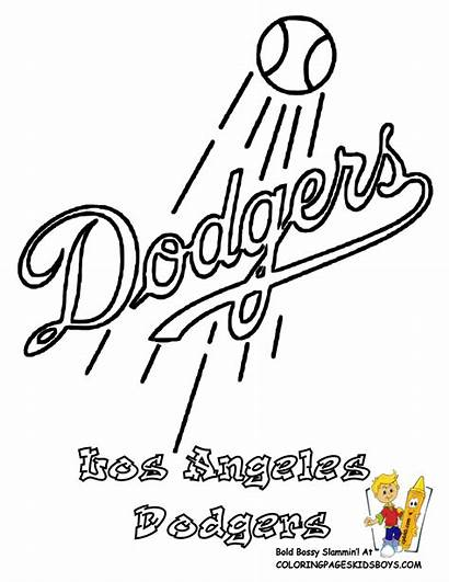 Coloring Baseball Pages Dodgers Angeles Los Mlb