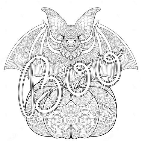 halloween zentangle bat halloween adult coloring pages