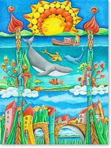 Kinderbilder Fürs Kinderzimmer : aquarellbilder galerie 2 m rchenhafte st dte ~ Markanthonyermac.com Haus und Dekorationen