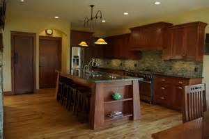 mission style kitchen island white oak residence craftsman kitchen milwaukee by highland builders llc